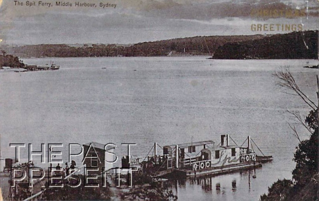 The Spit Ferry Middle Harbour (Fry's Chocolate)Front copy