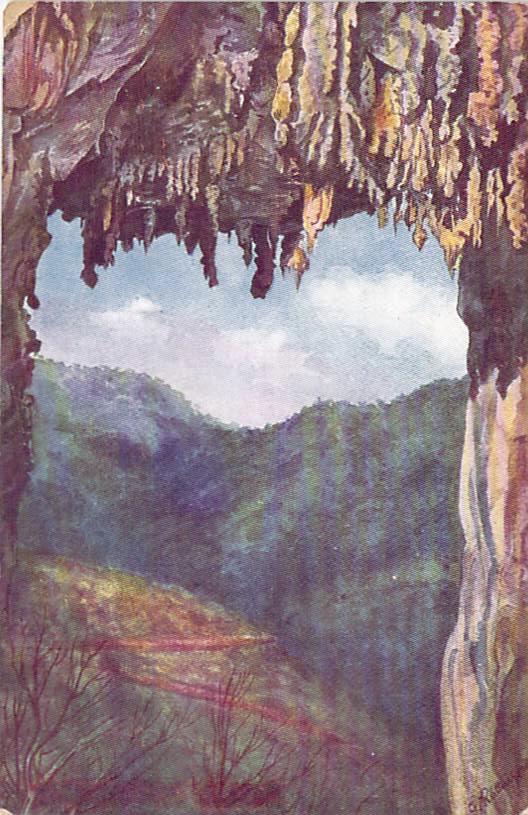 Carlottas Arch Jenolan Caves Front Australia Day