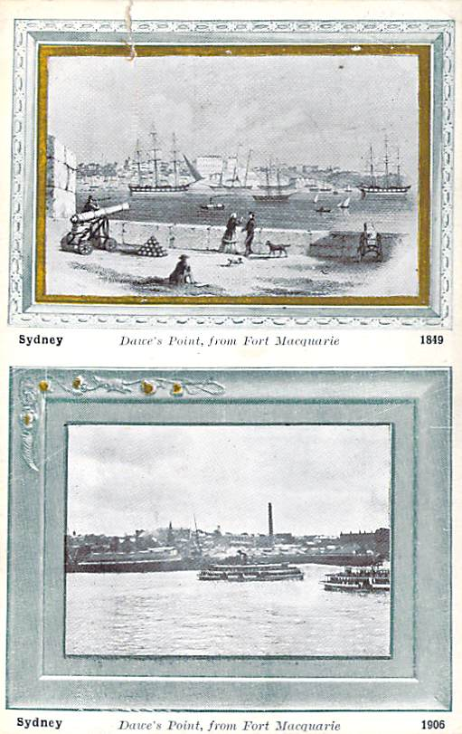 Sydney Dawes Point From Fort Macquarie Front