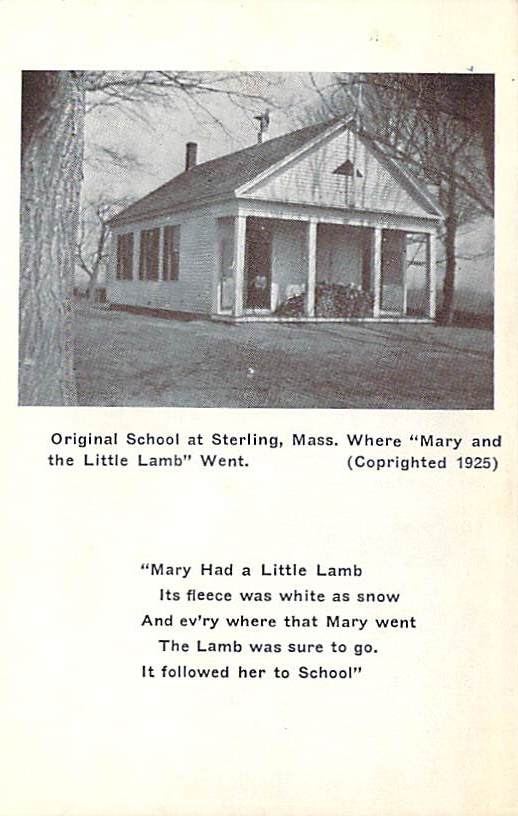 Mary Had A Little Lamb School Front
