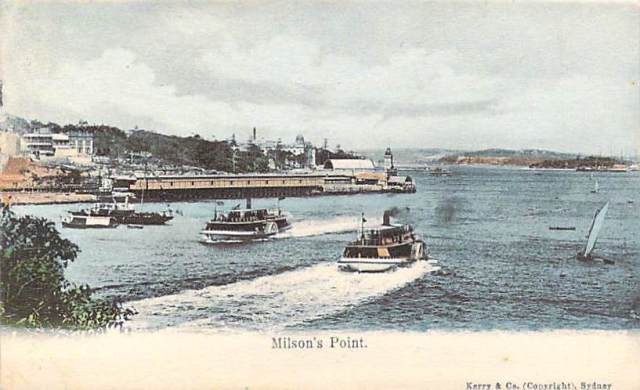 Milsons Point possibly showing Luna Park site front