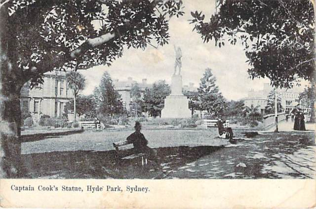 Captain Cooks Memorial Hyde Park Front