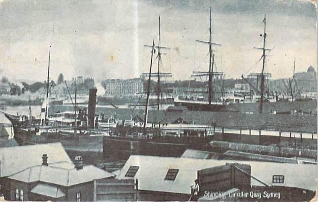 Shipping Circular Quay Sydney front