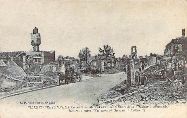 Villers Bretonneus (Somme) WW1 2 Front
