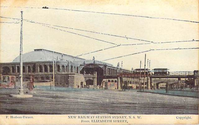 New Railway Station Sydney NSW From Elizabeth Street (Central) Front