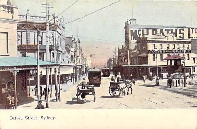 Oxford Street Sydney Horse and Cart Front