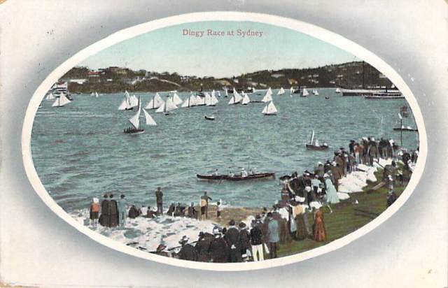 Dingy Race at Sydney Front